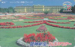 TC Japon - AUTRICHE - CHATEAU DE SCHÖNBRUNN - AUSTRIA VIENNA WIEN CASTLE Japan Phonecard - Site HANSHIN AIRLINES 55 - Landscapes