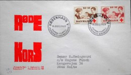 Denmark 1969 Czeslaw Slania.Rotes Kreuz /red Cross/ Croix Rouge MiNr.488-89 FDC ( Lot 1270 ) - FDC