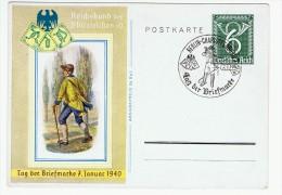 """Allemagne /  """" Journée Du Timbre """" 1940 / Berlin-Charlottenburg - Lettres & Documents"""