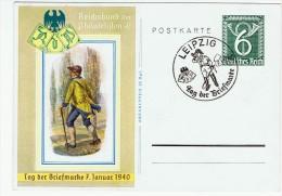 """Allemagne /  """" Journée Du Timbre """" 1940 / Leipzig - Lettres & Documents"""
