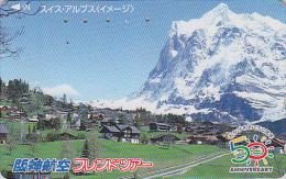 Télécarte Japon - SUISSE -  MONTAGNE / ALPES - MOUNTAIN  Japan Phonecard SWITZERLAND SCHWEIZ - Site HANSHIN AIRLINES 69 - Montagnes