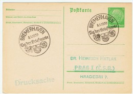 """Allemagne /  """" Journée Du Timbre """"  1939 / Bremerhaven - Lettres & Documents"""