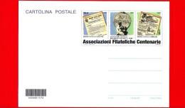 Nuovo - ITALIA - 2014 - Cartolina Postale - Associazioni Filateliche Centenarie - 0,80 € • Notiziari - Cod. A Barre 1576 - Interi Postali