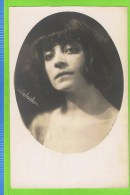 Asta Nielsen, Deense actress ,  (Kopenhagen, 11-09-1881 � Frederiksberg, 24 mei 1972),   Autographe