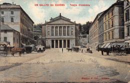 ITALIE.  UN SALUTO DA SAVONA.  TEATRO CHIABRERA.  1906 - Savona