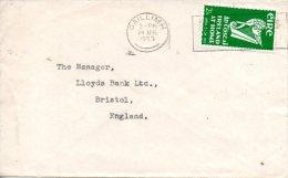 IRLANDE. N°118 De 1953 Sur Enveloppe Ayant Circulé. Instrument De Musique/Harpe. - Musica