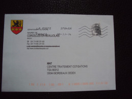Spécial TTB : Enveloppe  Corcelles -en-Beaujolais (69)  Thème Coquille Lion Héraldique - Christianity