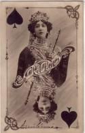 OTERO CARTA DA GIOCO DONNA WOMAN FEMME ARTISTE- VG 1905 - -good Condition--DOPPIO 2 SCAN- - Famous Ladies