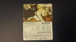 Liechtenstein-cat-black And White-20chf-used+1card Prepiad Free - Liechtenstein