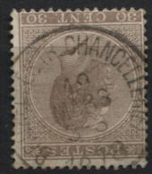 N�19 obl. RR SIMPLE CERCLE de BRUXELLES CHANCELLERIE 1878 .Usage TARDIF rare.