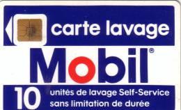 FRANCE CARTE LAVAGE MOBIL 10U SO3  NUMEROTEE VERSO UT  RARE - Petrole