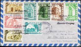 1955. RODRIGUEZ. AIR MAIL 8 EX. FIRST DAY 19 JUNIO 1955.  (Michel: 737-744) - JF108850 - Briefmarken