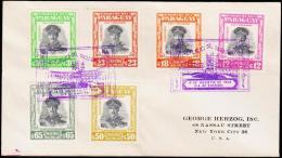 1958. PR. STROESSNER. AIR MAIL 6 EX. FIRST DAY 15. AUG. 1958.  (Michel: 806-811) - JF108854 - Briefmarken