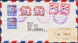 1957. UN. 2 X 90 C. N. UNIDAS DIA 24 Octubre 1945 - 1956. ASUNCION AERO POSTAL 24. OCT.... (Michel: 777) - JF108831 - Briefmarken