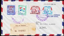 1957. UN. 90 C. N. UNIDAS DIA 24 Octubre 1945 - 1956. ASUNCION AERO POSTAL 24. OCT. 1957. (Michel: 769) - JF108842 - Briefmarken