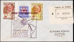 1959. UN. 90 C. DIA N. UNIDAS 24 Octubre 1945 - 1956. PRIMER VUELO JET CLIPPER ASUNCION... (Michel: 821) - JF108844 - Briefmarken