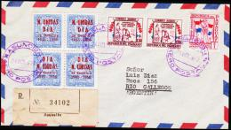 1957. UN. 4X 90 C. N. UNIDAS DIA 24 Octubre 1945 - 1956. ASUNCION AERO POSTAL 24. OCT. ... (Michel: 769) - JF108841 - Briefmarken