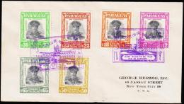 1958. PR. STROESSNER. AIR MAIL 6 EX. FIRST DAY 15. AUG. 1958.  (Michel: 806-811) - JF108853 - Briefmarken