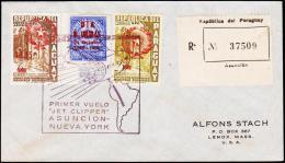 1959. UN. 90 C. DIA N. UNIDAS 24 Octubre 1945 - 1956. PRIMER VUELO JET CLIPPER ASUNCION... (Michel: 821) - JF108843 - Briefmarken