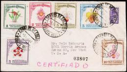 1947. ORCHIDEEN.6 EX. CORREOS DE COLOMBIA BOGOTA -6. MAR 47.  (Michel: 500-505) - JF108824 - Briefmarken