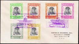 1958. PR. STROESSNER. AIR MAIL 6 EX. FIRST DAY 15. AUG. 1958.  (Michel: 806-811) - JF108855 - Briefmarken