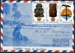 Lettre Illustrée Flamme De Papeete RP - Polynésie Française