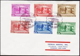 1961. 1811-1961. AIR MAIL 6 EX. FIRST DAY (Michel: 898-903) - JF108856 - Briefmarken