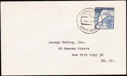 1958. 500 PESOS ANTARKTIS AIR MAIL. CORREO AEREO SANTIAGO. (Michel: 536) - JF108927 - Briefmarken