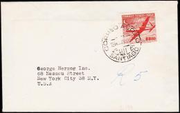 1955. 500 P. CORREO AEREO SANTIAGO 12. NOV. 55.  (Michel: 503) - JF108899 - Briefmarken