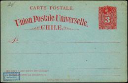 Union Postale Universelle Chile. 3 CENTAVO.  (Michel: ) - JF108890 - Briefmarken