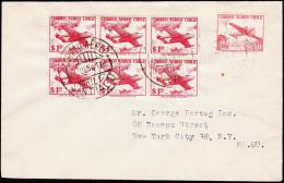 1956. 6X 1 P + 50 P. CORREO AEREO SANTIAGO 27.JUL.56. (Michel: 516) - JF108900 - Briefmarken