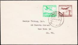 1961. 10 + 20 P. CORREO AEREO SANTIAGO 18.MAY.59. (Michel: 551) - JF108905 - Briefmarken