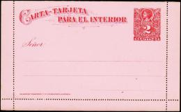 CARTA-TARJETA PARA EL INTERRIOR. 2 CENTAVOS. (Michel: ) - JF108892 - Briefmarken
