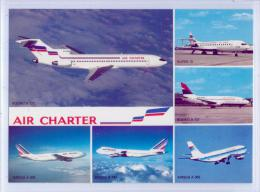 Carte 5 Vues - FLOTTE Utilisée Par AIR CHARTER - Airbus A-300 - Boeing B-727 / 737 / 747 - Super 10 - 1946-....: Moderne