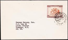 1960. 10 C. AIR MAIL. CORREO AEREO SANTIAGO 26. AGO. 60. (Michel: 581) - JF108921 - Briefmarken