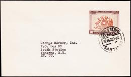1960. 10 C. AIR MAIL. CORREO AEREO SANTIAGO 26. AGO. 60. (Michel: 581) - JF108922 - Briefmarken