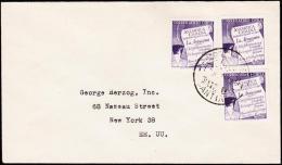 1958. 3X 20 PESOS ANTARKTIS AIR MAIL. CORREO AEREO SANTIAGO 3. JUL. 58. (Michel: 535) - JF108914 - Briefmarken