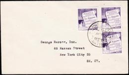 1958. 3X 20 PESOS ANTARKTIS AIR MAIL. CORREO AEREO SANTIAGO 3. JUL. 58. (Michel: 535) - JF108915 - Briefmarken