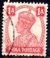 INDIA 1940 King George VI - 1a.   - Red    FU - Inde (...-1947)