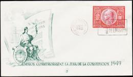 1949. JUN 20 1949. 1 PESO.  (Michel: 566) - JF108997 - FDC