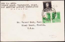 1929. POR VIA AEREA BUENOS AIRES, VALPARAISO, MAIMI. PAN AMERICAN AIRWAYS COPERATION. 1... (Michel: 296) - JF108967 - Luftpost
