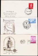 1954-1956 3 FDC.  (Michel: ) - JF108999 - FDC