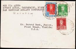 1929. POR VIA AEREA BUENOS AIRES, VALPARAISO, MAIMI. PAN AMERICAN AIRWAYS COPERATION. 1... (Michel: 297) - JF108965 - Luftpost