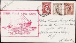 1940. PRIMER VIAJE DEL VAPOR DELTARGENTINO 21 DIC. 40.  (Michel: 404) - JF108972 - Argentine