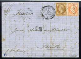 Lettre Du BFE De Salonique Pour Cavaillon 1860 Cachet PC 4012 - Marcophilie (Lettres)