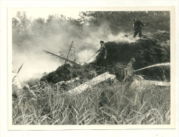 13 PHOTOGRAPHIE BROCAREL REPORT PHOTO ARLES MILITAIRE POMPIER INCENDIE ACCIDENT AVION AVIATION  MILITARIA - Firemen