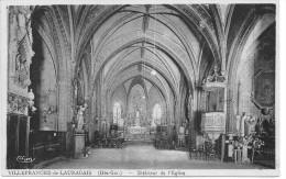 CPA - 31 - VILLEFRANCHE DE LAURAGAIS - INTERIEUR DE L'EGLISE - France