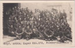 AK  - Arbeitslager Kriegsgefangene Franzosen Lager - Nieder Saulheim - Guerre 1914-18