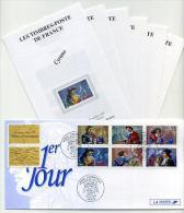 Carton 1er Jour + Feuillets 25-10-1997 - Héros D'aventures - Personnages Célèbres - FDC