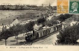 17-ROYAN-La Plage Prise Du Family Hôtel-Tramway à,vapeur Bon Plan - Royan